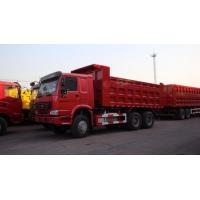 Wholesale 30T SINO Heavy Duty ZZ3317N3867B 6x4 Red Color Full Fender Dump Truck for Transport from china suppliers