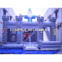 Wholesale Waterproof Church Inflatable Jumping Castle With Slide , 5-8 Kids Capacity from china suppliers