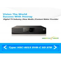 Wholesale Plastic SD Set Top Box MPEG2 100dBuV - 36dBuV Support RS232 / OTA Upgrading from china suppliers