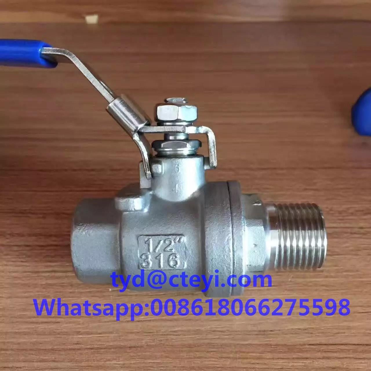 Quality 1000WOG 316 Stainless Steel Ball Valves , Full Port Male Female NPT Thread 2pc Ball Valve for sale
