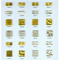 Wholesale Luxury Real Glossy Gold Mosaic Tiles For Interior Decoration , Paper Mounted from china suppliers