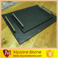 Wholesale customized design black slate cheese board for food from china suppliers