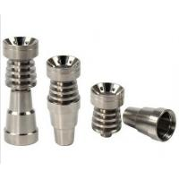 Wholesale Top quality 6 in 1 Domeless Titanium Nails Titan Nail with Male and Female Joint for Glass from china suppliers