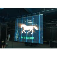 Wholesale Energy Saving Large Outdoor Transparent LED Wall Giant Screen , Reduce The Wind Load from china suppliers