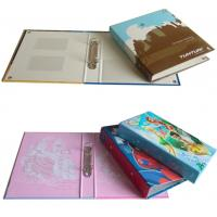 Buy cheap Custom Design Printing Paper Ring Binder with PVC Holder Inside from wholesalers