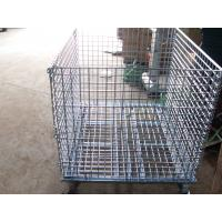 """Wholesale Wholesale collapsible Wire Container, 40*32*35.5 Mesh 2"""" * 2"""" Diameter 6mm Capacity 2,800 LBS with Casters from china suppliers"""