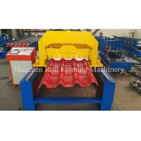 Wholesale 2 - 4 m / Min 6.5T Steel Glazed Tile Roll Forming Machine 10 Years Life Time from china suppliers