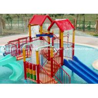 Wholesale Swimming Pool Equipment Playhouse for Kids with Small Fiberglass Water Slide from china suppliers