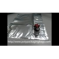 Wholesale Plastic Flexible Packaging Reusable Bag In Box With Spout , Silver from china suppliers