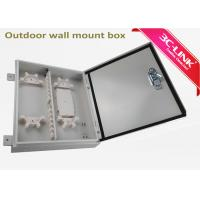 Quality Waterproof Wall Mount Outdoor Fiber Cabinet Fiber Optic Distribution Frame 24 Cores for sale