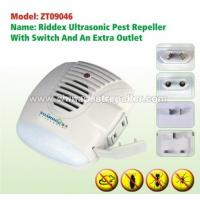 Wholesale Home Sentinel Riddex Ultrasonic Pest Repeller with Switch And an extra outlet And LED Light from china suppliers
