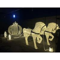 Wholesale led outdoor christmas decoration horse carriage from china suppliers