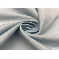 China Grey Color Hole Pattern Breathable Outdoor Fabric 100D +100D * 100D + 100D Yarn Count for sale