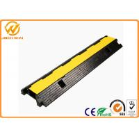 Rubber Cable Protection Yellow Jacket Cord Cover 2 Channels 1000 * 250 * 50 mm