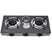 Wholesale Indoor Glass Top Gas Stove 3 Burner , Table Top Three Burner Gas Stove from china suppliers