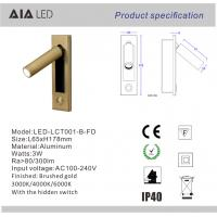 Wholesale Adjustable bedside wall light with headboard wall light 3W LED wall lighting/led reading lamp from china suppliers