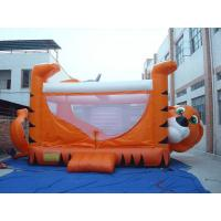 Wholesale Orange 0.55mm PVC Tarpaulin Inflatable Sports Games , Kids Inflatable Bouncer from china suppliers