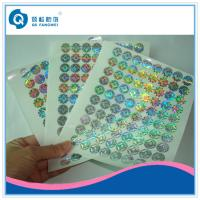 Wholesale Custom Made Void Laser Printing Labels On Sheets , Company Logo Stickers from china suppliers