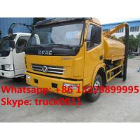 Wholesale hot sale dongfeng Euro  4  4cubic meters fecal suction truck, factory direct sale 4cubic meters vacuum suction truck, from china suppliers