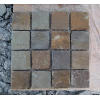 Wholesale Natural Rust Slate Tumbled Flagstone Patio Flooring Pavers Multicolor Slate Flagstone Pave from china suppliers