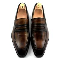 Wholesale Custom Mens Leather Dress Shoes Goodyear Shoe 100% Handmade Genuine Leather Loafers from china suppliers