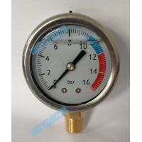 Wholesale 2 Inch Crimp isolate hydraulic oil pressure gauge , pipe / tank pressure gauge from china suppliers