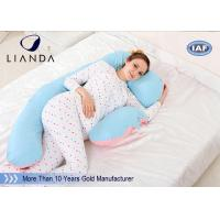 Wholesale U Shape Maternity Body Pillow , Memory Foam Pregnancy Pillow Polyester / Cotton Fabric from china suppliers