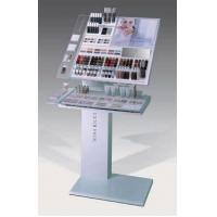 Wholesale Cosmetic organizer floor Custom Acrylic Displays With MDF frame with PU coating from china suppliers