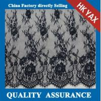 Wholesale Hot selling black scalloped voile lace fabric for ladies dress;voile lace fabric factory; voile lace fabric price from china suppliers