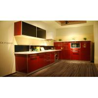 Wholesale Modern Red and black UV Lacquer kitchen cabinet from china suppliers