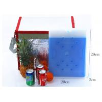 Quality Blue PCM Coolant Flat HDPE Large Cooler Ice Packs Non Toxic - 25 Degrees for sale