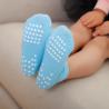 Fashionable Knitting Slip Resistant Socks , Jacquard Logo Non Slip Dance Socks for sale