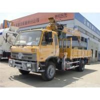 China HOT SALE! 190hp euro3 right hand drive 8 ton dongfeng boom crane truck for sale, 8tons telescopic truck with crane on sale