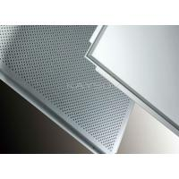 Wholesale Commercial fireproof Lay In Ceiling Tiles , perforated aluminum ceiling panels from china suppliers
