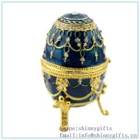 Wholesale Violet Faberge Inspired Egg, discount Oeuf Bleu Faberge Inspired Egg on sale from china suppliers