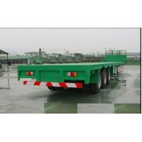 Wholesale 13m Steel Flatbed Container Trailer with lock for steel pump or coontainer transportation from china suppliers