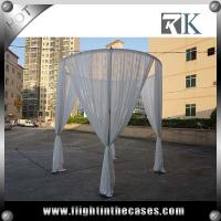 Buy cheap Event use white chiffon drape and pipe and drape backdrops for wedding from wholesalers