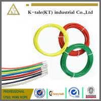 Wholesale high tensile strength strand 0.9-2mm pvc coated galvanized steel wire rope for lifting from china suppliers