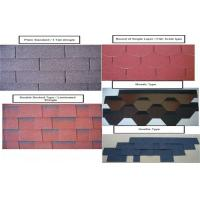 Wholesale 2.6mm Colored Asphalt Roofing Shingles , 3 Tab Roofing Shingles from china suppliers