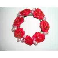 Wholesale Red Rose Artificial Decorative Flowers Christmas Garlands and Wreaths for Love from china suppliers