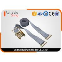 Wholesale 2 In x 16 Ft Heavy Duty Gray E Track Ratchet Straps for Truck Trailer from china suppliers