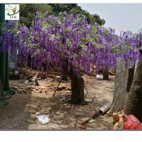 Wholesale UVG wedding planner artificial flower arrangements purple wisteria blossoms fake tree for beach club decoration from china suppliers