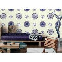 Wholesale Classical Blue And White Porcelain Room Decoration Wallpaper / Chinese Style Wallpaper from china suppliers