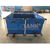 Wholesale 2000L flexible square   5000lFish farming tank in door and out door using water storage tank from china suppliers