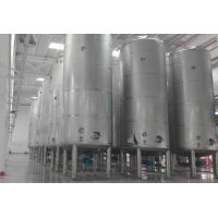 Buy cheap 50 ton large capacity Milk Storage Tanks outer door use / large factory use from wholesalers