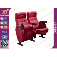 Wholesale Foldable Armrest Fabric Heavy Duty Cinema Theater Chairs Push Back Seatback from china suppliers