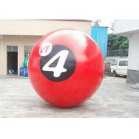Wholesale Red 0.8mm PVC Inflatable Walk On Water Ball With Printing 2m Diameter from china suppliers
