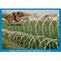 Wholesale Hot dipped galvanzied Concertina Razor Blade Barbed Wire Coil Diameter 500mm from china suppliers