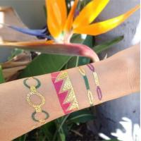 China Gold and silver metallic tattoo on sale