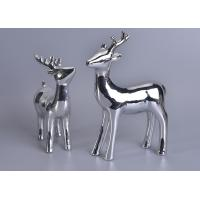 Wholesale Silver Mercury Animal Ceramic Mantle Shelf Table Centerpiece Deer Decor from china suppliers